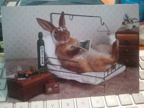 Card from a friend displays uncanny similarities to my condition